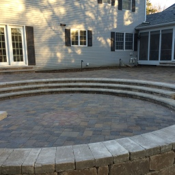 sunken circle patio