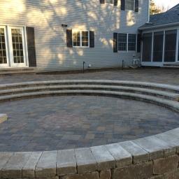 sunken circle patio