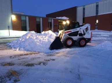 Snow Removal with skid loader