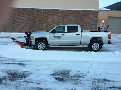 Snow removal with truck